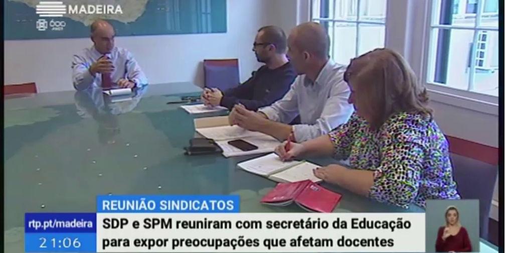Reunião do SDPM com o Secretário Regional de Educação Ciência e Tecnologia