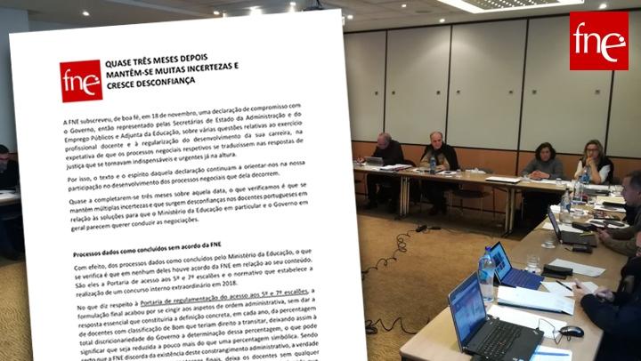 FNE aprova resolução sobre os processos negociais em curso com o ME