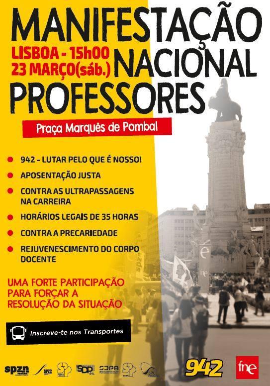 Manifestação Nacional de Professores