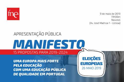 FNE apresenta o seu manifesto para as eleições europeias